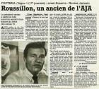 Roussillon, un ancien de l'AJA