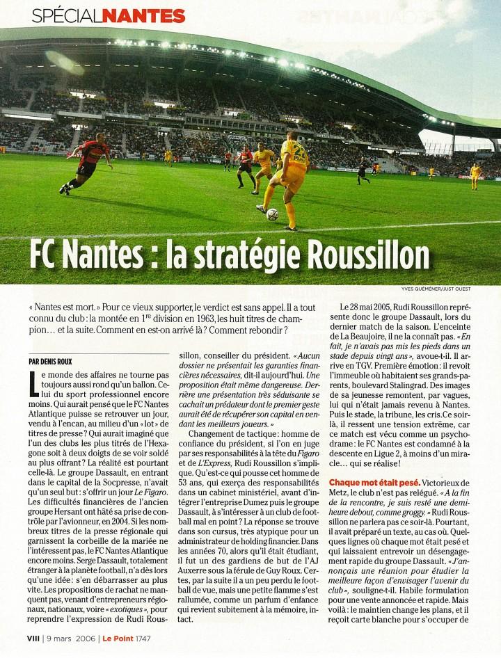 FC Nantes : la stratégie Roussillon