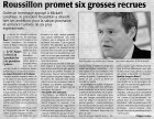 Roussillon promet six grosses recrues