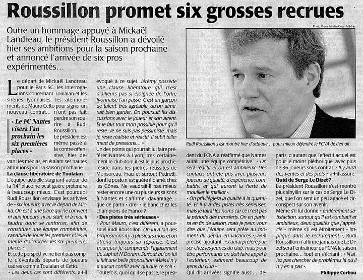 Roussillon promet six grosses recrues