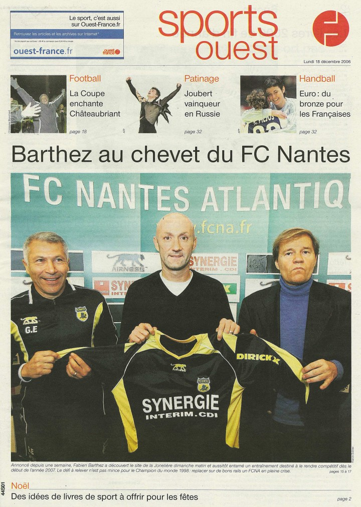 Barthez au chevet du FC Nantes